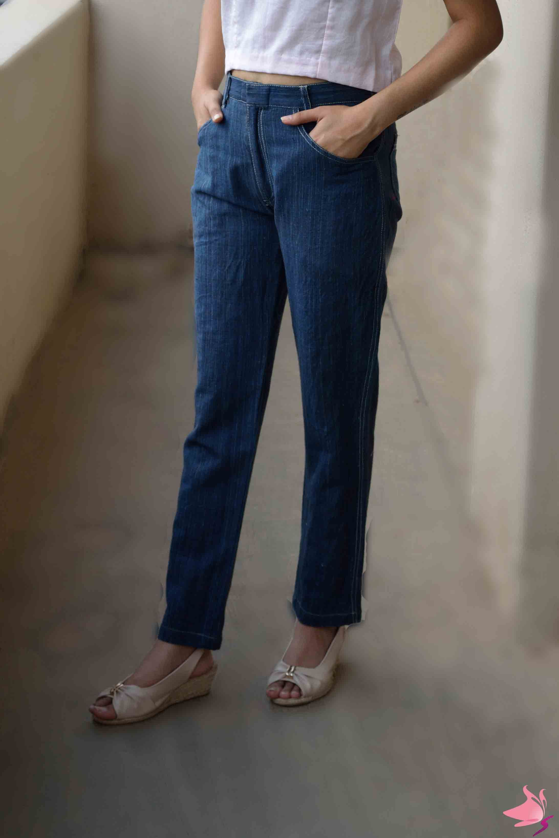 Dark blue handloom trousers